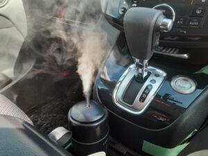 車載用加湿器で花粉対策